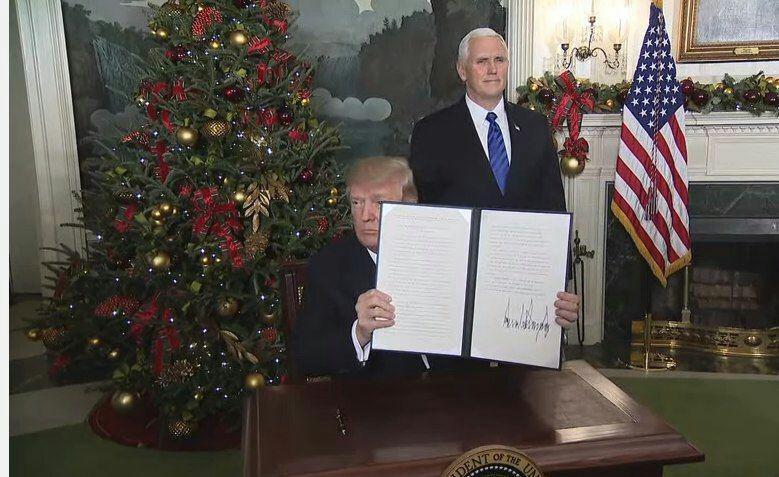 ترامپ قدس را به عنوان پایتخت اسرائیل به رسمیت شناخت