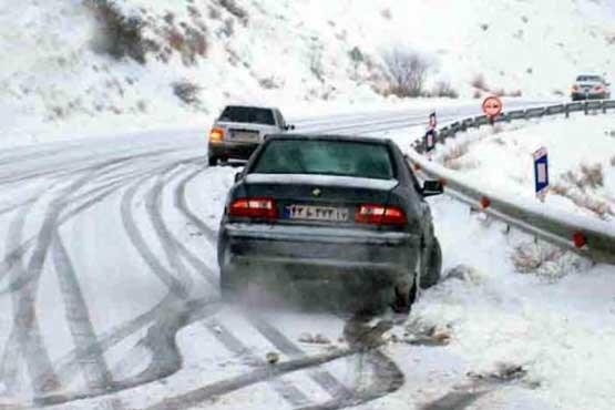 جادههای استان ایلام لغزنده میشود