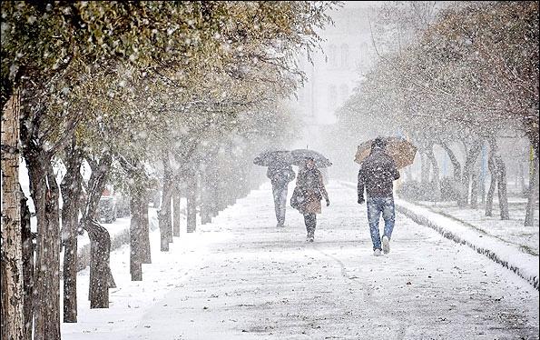 آذربایجان غربی رخت سفید بر تن کرد/بارش نخستین برف پائیزی در ارومیه