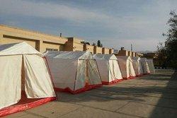 دو اردوگاه اسکان اضطراری زلزلهزدگان در شهرستان دیر برپا شد