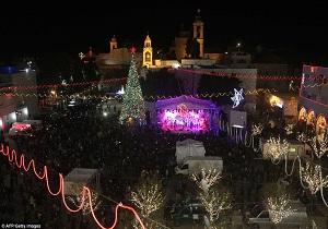 چراغهای کریسمس در محل تولد حضرت عیسی مسیح در فلسطین خاموش شد