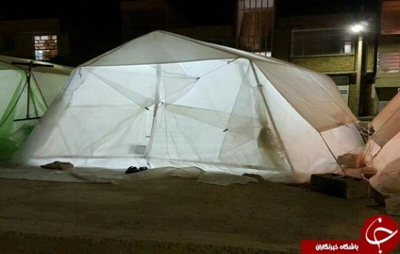باشگاه خبرنگاران -شب های سرد زلزله زدگان در زیر چادر