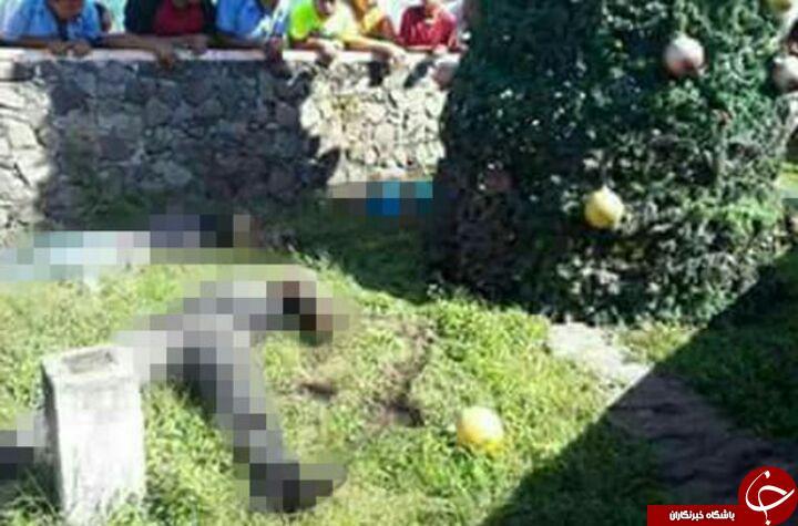 حادثه وحشتناک جان 5 نفر  را حین تزئین درخت کریسمس گرفت! تصاویر