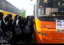 ۵۲۰ دانش آموز دختر شهرستان بوشهر عازم مناطق عملیاتی دفاع مقدس شدند