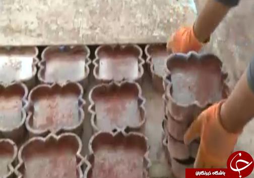جوان کارآفرین لرستانی تولیدکننده سنگهای مصنوعی/آغاز فعالیت تنها با ۳ نفرنیروی کار+تصاویر