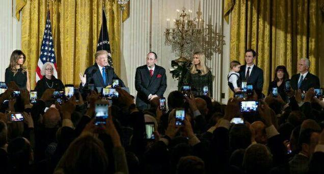 شرکت ترامپ در مراسم ویژه یهودیان در کاخ سفید+ تصاویر