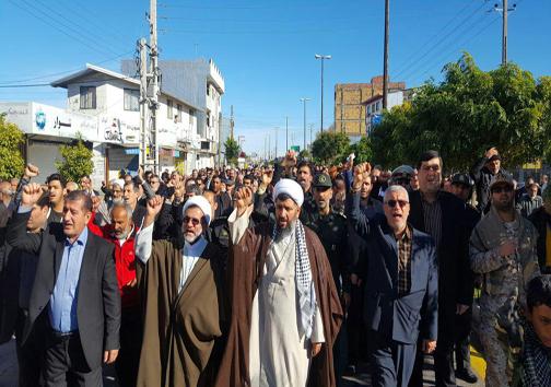 راهپیمایی ضد صهیونیستی مازندرانیها پس از اقامه نماز جمعه