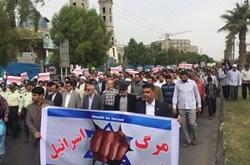 مردم استان بوشهر سیاست جدید امریکا در سرزمین قدس را محکوم کردند