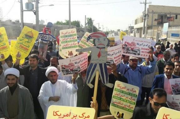 باشگاه خبرنگاران -مردم استان بوشهر اقدام جدید رئیس جمهور آمریکا را محکوم کردند