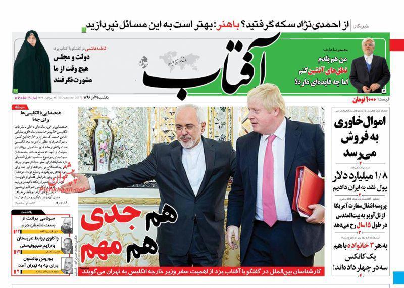 صفحه نخست روزنامههای ۱۹ آذر؛