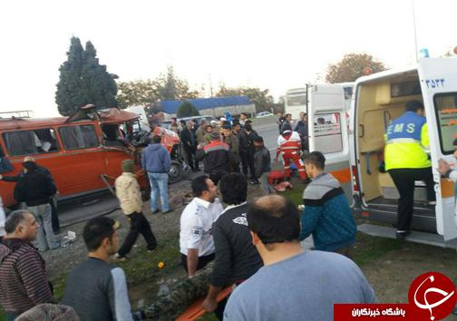 مصدومیت ۲۱ نفر در دو سانحه رانندگی شهرهای نکا و بهشهر