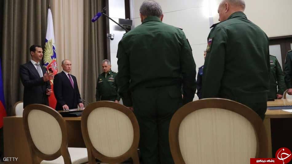 ورود پوتین به سوریه و بازدید غیرمنتظره وی از پایگاه نظامی حمیمیم در لاذقیه