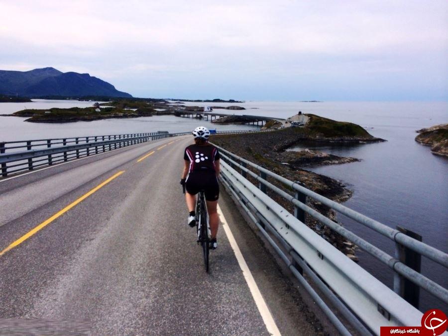 جاده مرگباری که از وسط دریا، زمین و آسمان می گذرد+ فیلم و تصاویر