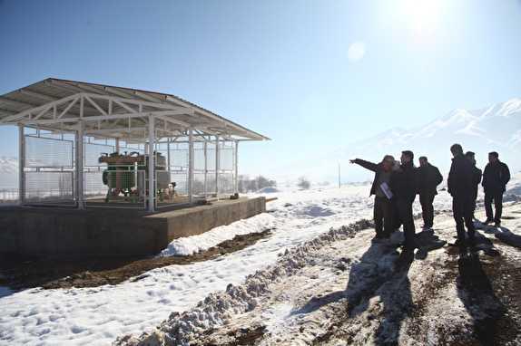 باشگاه خبرنگاران -بازدید نماینده یک شرکت آلمانی متخصص از پروژه های آبیاری نوین در آذربایجان غربی