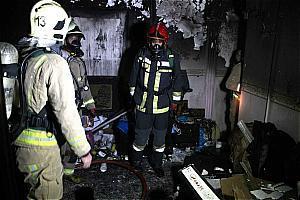 ساختمان 6 طبقه در شهر ری طعمه حریق شد/نجات مرد 35 ساله از میان دود و آتش