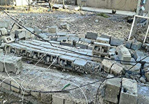 باشگاه خبرنگاران -فرو ریختن دیوار خانه مسکونی در میاندوآب