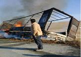 باشگاه خبرنگاران -آتش سوزی شدید در اثر برخورد آمبولانس و تریلی در محور پلدشت-ماکو