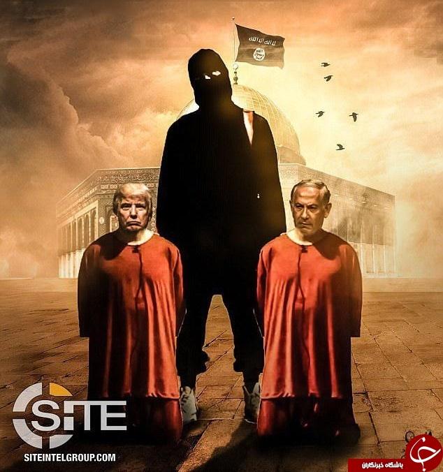 تهدید وحشتناک داعش علیه نتانیاهو و ترامپ: گردنتان را میشکنیم+ تصاویر
