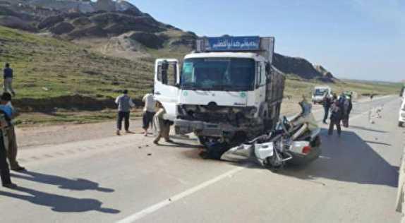 باشگاه خبرنگاران -برخورد کامیون با پراید ۲ نفر را به کام مرگ کشاند