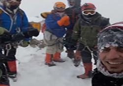 فیلمی از آخرین لحظات عمر کوهنوردان فقید خراسانی پس از صعود به قله