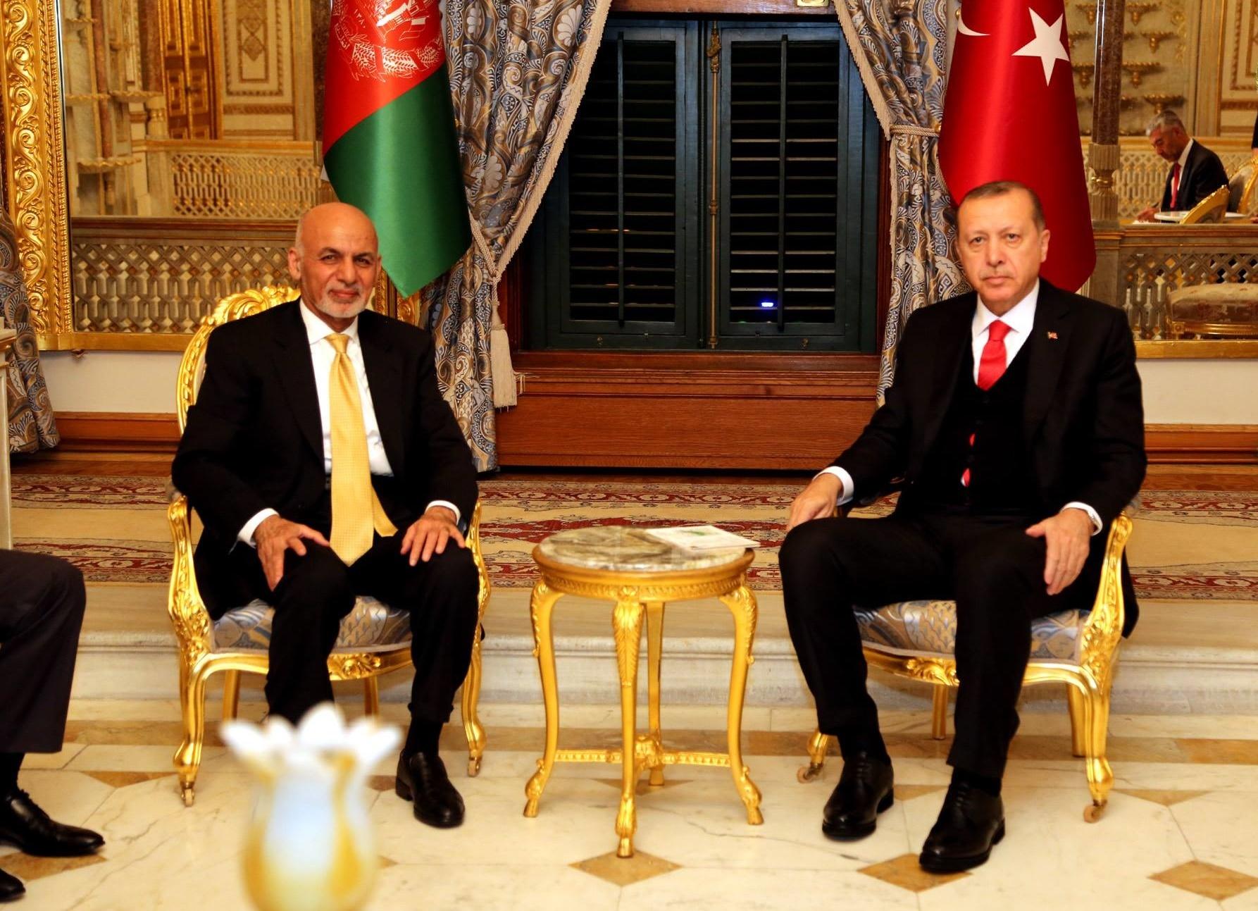 گفتگوی «اشرف غنی» و «اردوغان» درباره مسائل منطقه ای و پروسه صلح