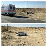 باشگاه خبرنگاران -۵ مجروح در واژگونی خودروی سمند در محور زابل - زاهدان +عکس