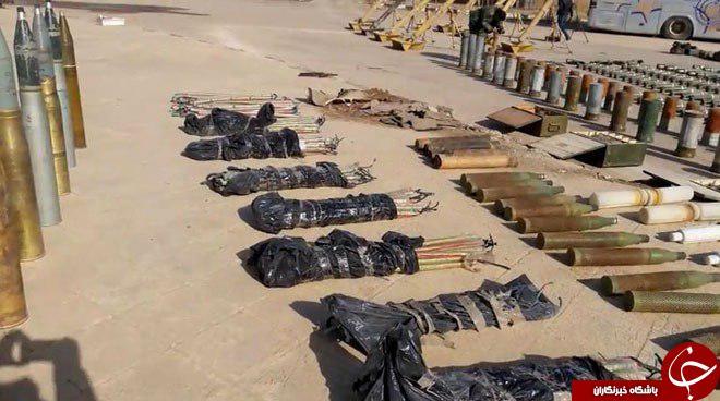 کشف سلاح های داعش در دیرالزور+تصاویر