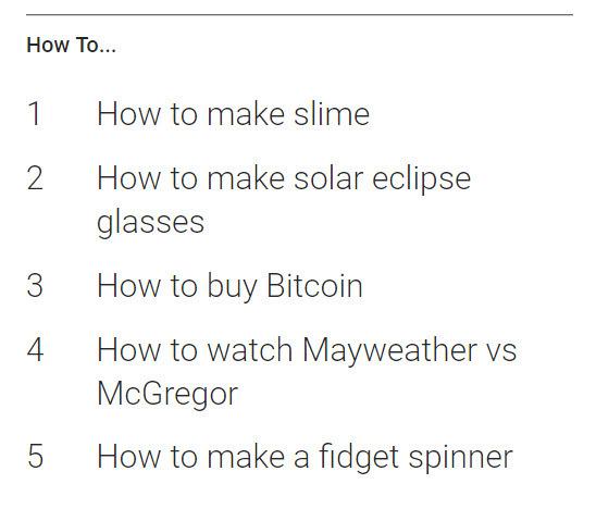 گوگل لیست بیشترین جستجو ها در سال 2017 را منتشر کرد