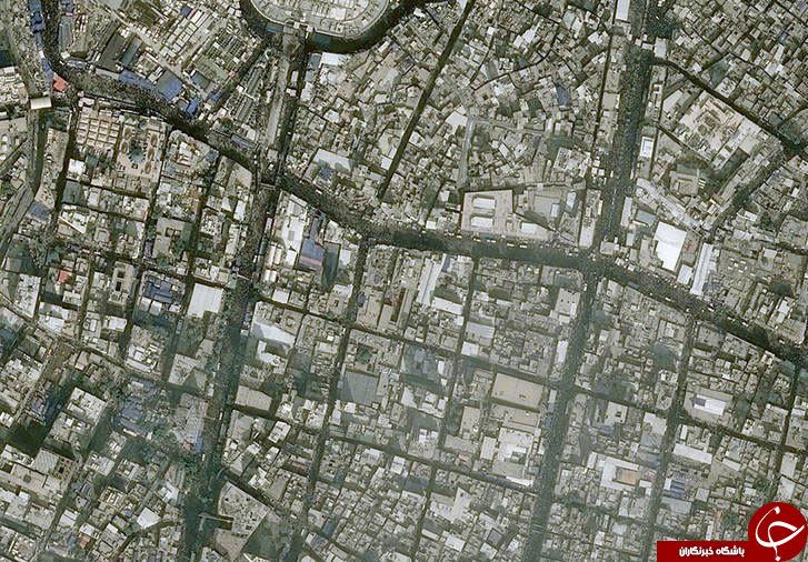 تصاویر ماهوارهای جدید از پیادهروی اربعین 96