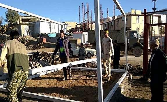 باشگاه خبرنگاران -نصب 120 کانکس در مناطق زلزله زده توسط خراسان جنوبی