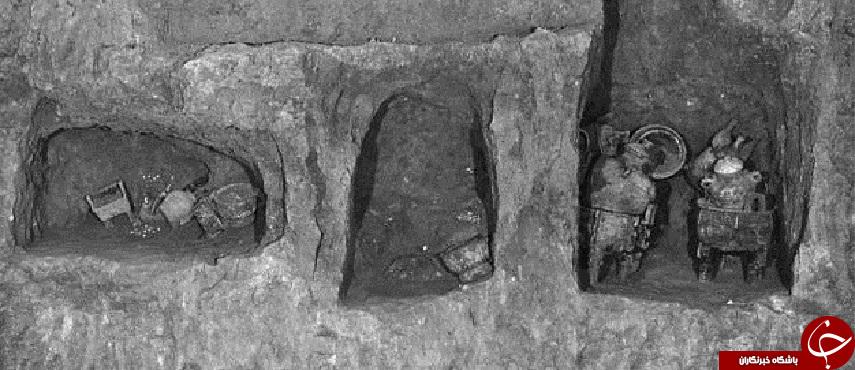 وسایل عجیب و غریبی که در یک گور 3هزارساله کشف شد+تصاویر