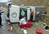 باشگاه خبرنگاران -۳ مصدوم در واژگونی خودروی امدادی هلال احمر
