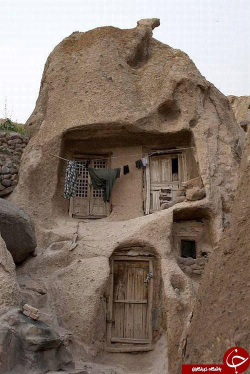 خانه و زندگی در دل سنگهای کندوان+تصاویر
