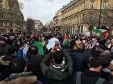باشگاه خبرنگاران -ممانعت پلیس فرانسه از تجمع معترضان مقابل سفارت آمریکا