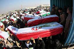 باشگاه خبرنگاران - ورود پیکر مطهر 55 شهید تازه تفحص شده 8 سال دفاع مقدس از مرز شلمچه
