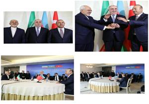 آغاز نشست سه جانبه وزرای امور خارجه ایران، ترکیه و آذربایجان در باکو