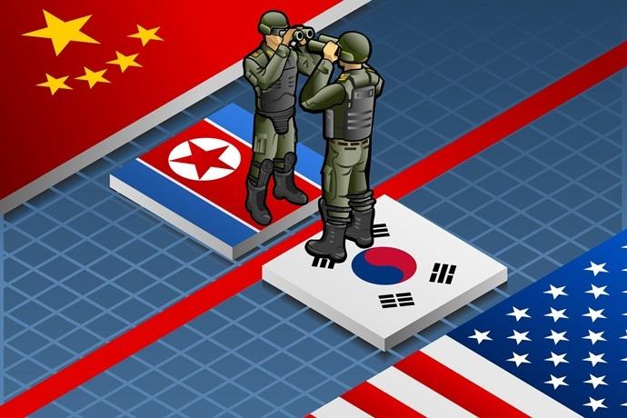 شلیک تیرهای هشدار کره جنوبی به سمت سربازان کره شمالی!