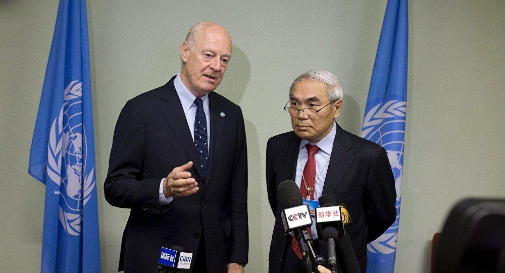 چین از نقش سازمان ملل در گفتگوهای صلح سوریه حمایت میکند