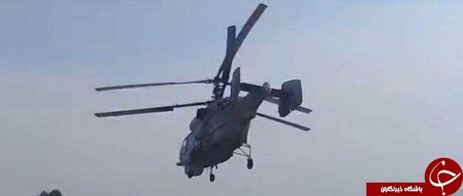 بمباران مواضع تروریستها در حماه با بالگردهای روسی