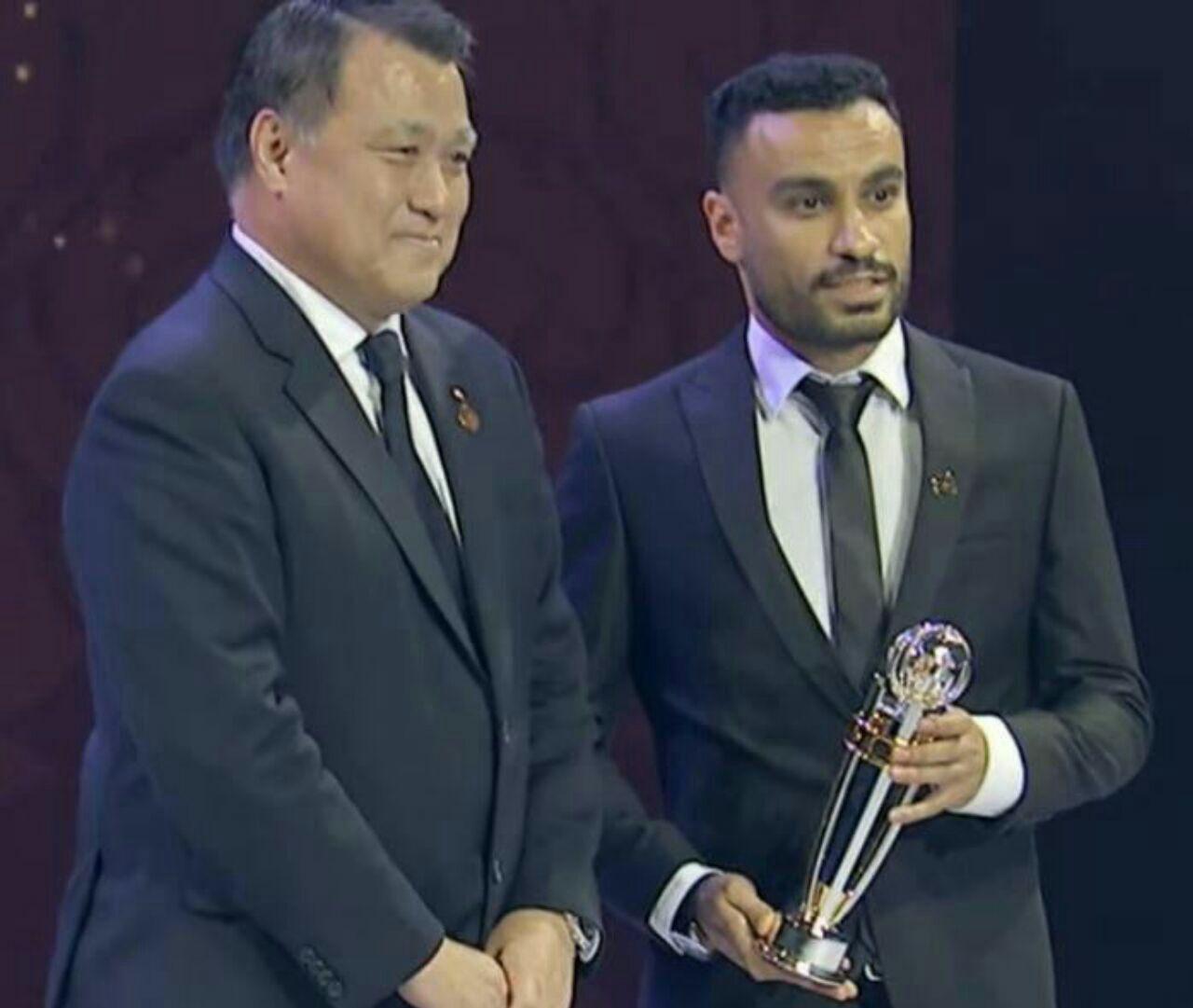 حسن زاده: جایزه برترین بازیکن فوتسال آسیا را به زلزله زدگان کرمانشاه تقدیم می کنم