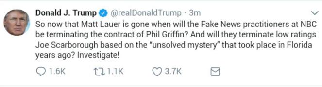 اخراج مجری مشهور شبکه آمریکایی انبیسی به اتهام فساد جنسی +واکنش توییتری ترامپ