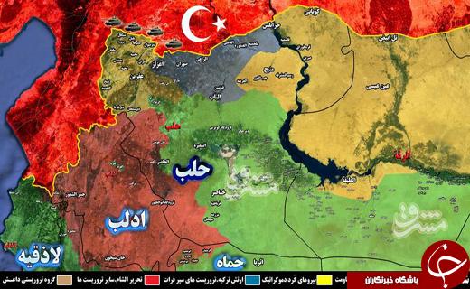 جزئیات حملات ارتش ترکیه علیه مواضع نیروهای کُرد در شمال غرب استان حلب/استقرار یگانهای زرهی ارتش ترکیه و آماده باش نیروهای کُرد در شمال سوریه + نقشه میدانی