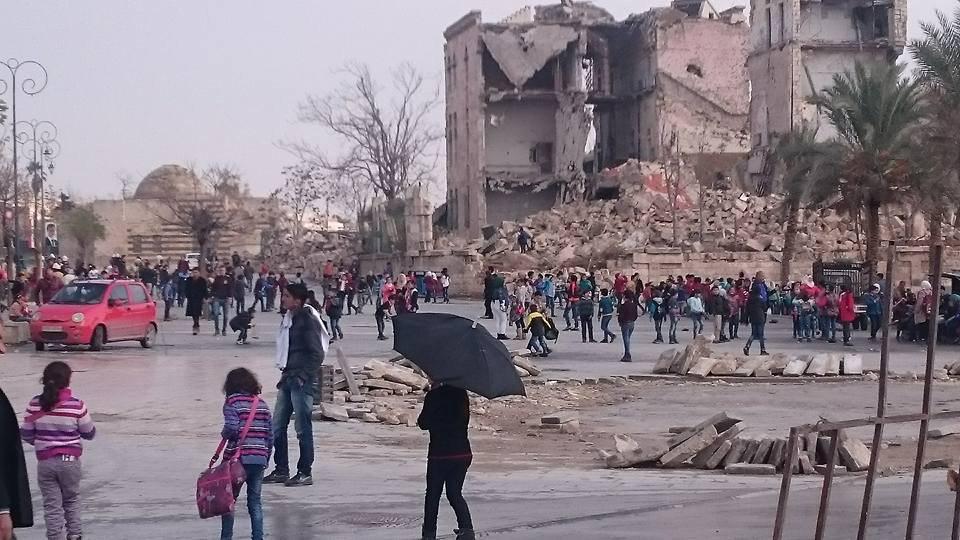بازگشت دانش آموزان در حلب به مدارس