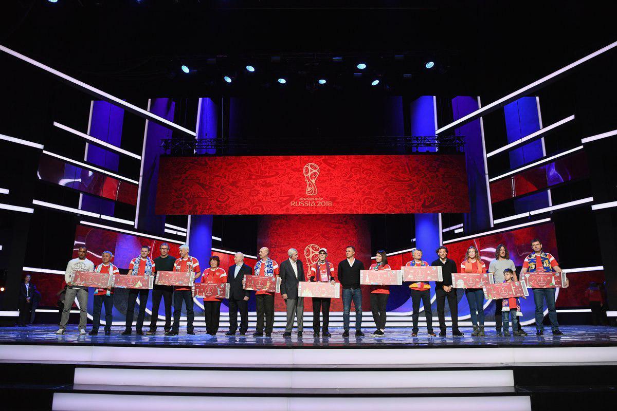 حاشیه های پیش از مراسم قرعه کشی جام جهانی روسیه ۲۰۱۸