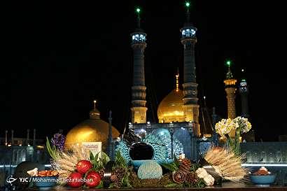 باشگاه خبرنگاران -لحظه تحویل سال نو در بارگاه حضرت معصومه(س) قم