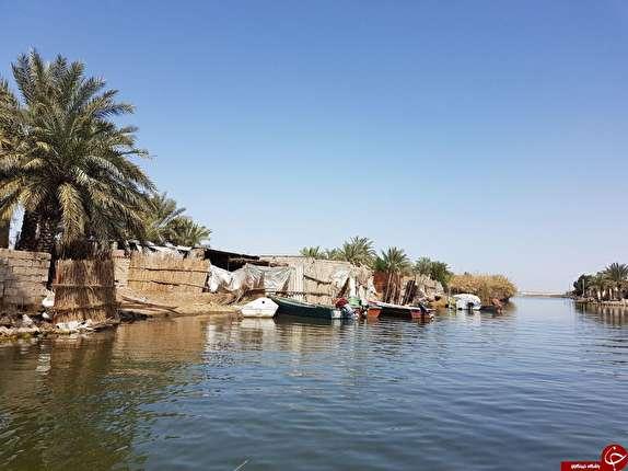 باشگاه خبرنگاران -شادگان و جاذبه خانه های شناور در میان آب