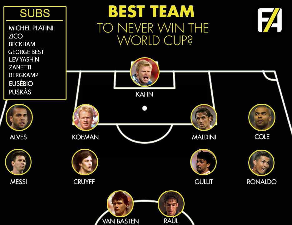 تیم منتخب ستاره هایی که هرگز موفق به فتح جام جهانی نشدند+عکس