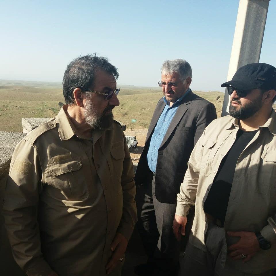 عید دیدنی محسن رضایی در مرز +عکس