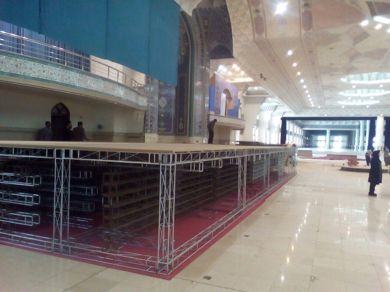اسامی برگزیدگان آزمون حفظ و مفاهیم قرآن کریم در بزرگترین رویداد قرآن اعلام میشود/ آماده سازی مصلی تهران برای برگزاری مسابقات قرآن