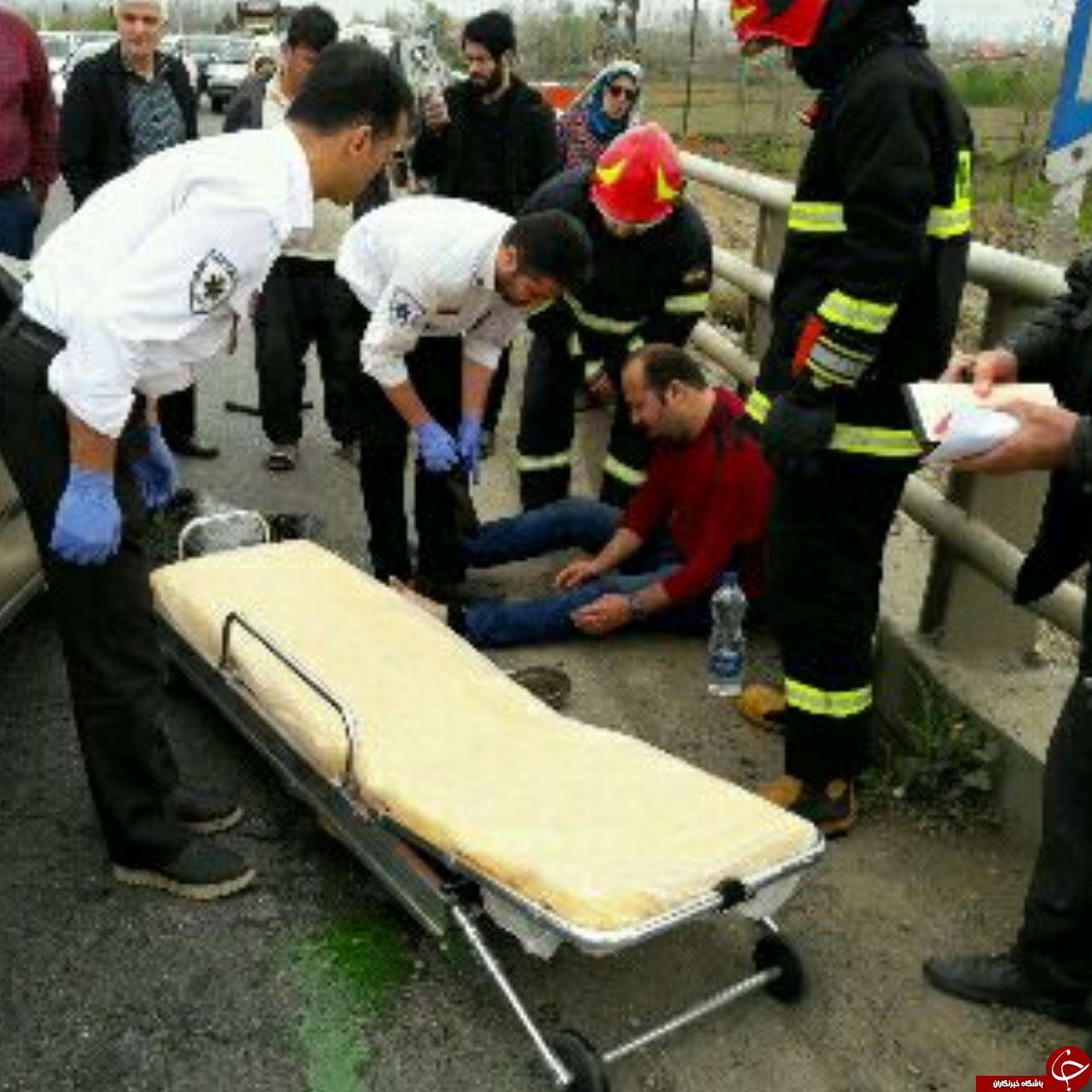 ۴ فوتی و مصدوم در تصادف ال ۹۰ و پژو در پل اباتر شهرستان صومعه سرا+تصاویر